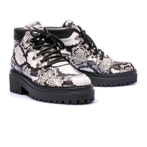 Nubikk – Djuna Fringe – Zwart leer chelseaboot – Elias Shoes